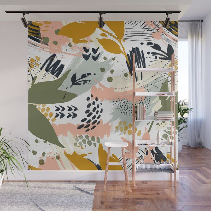Abstract Strokes Still Life Wall Mural by Mmartabc