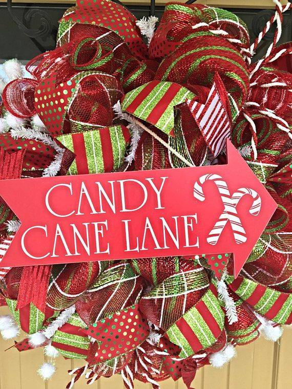 Candy Cane Lane Christmas Wreath Christmas wreaths