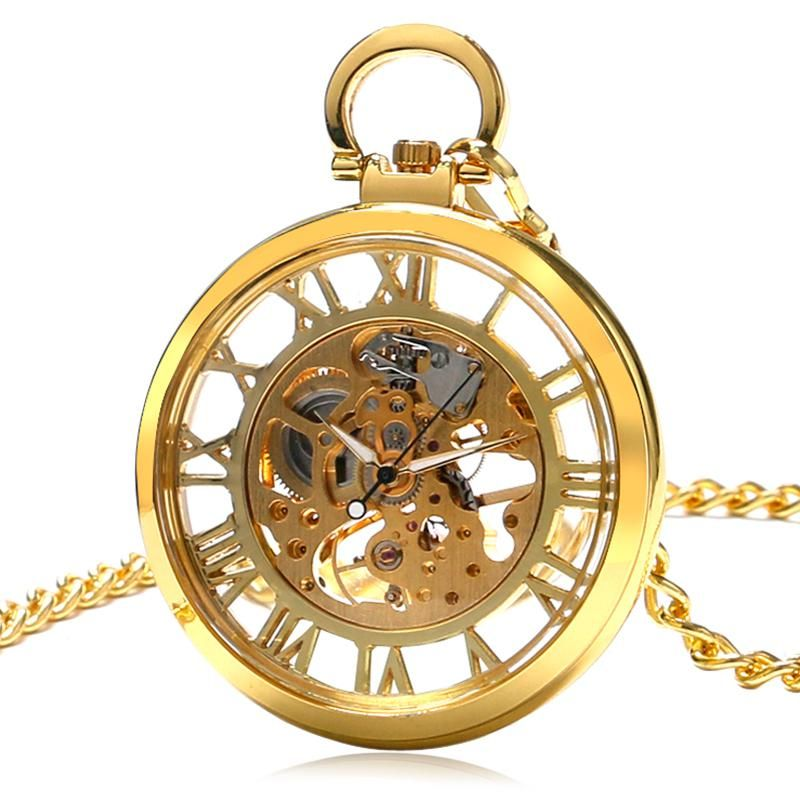 Watches Hot Sale Cool Rotating Spider Man Theme Quartz Fob Pocket Watch Golden Round Case With Necklace Chain For Men Women Gift