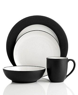 Noritake Colorwave Graphite Dinnerware Collection - Casual Dinnerware - Dining u0026 Entertaining - Macyu0027s  sc 1 st  Pinterest & Noritake Colorwave Graphite Dinnerware Collection - Casual ...