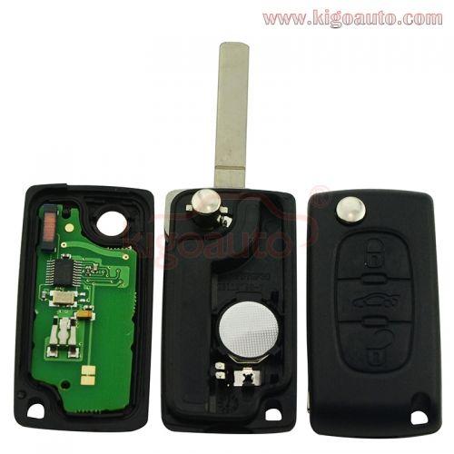 Silicone 2 Button Remote Key Fob Case Cover 5 For Peugeot 307 107 207 Citroen C3