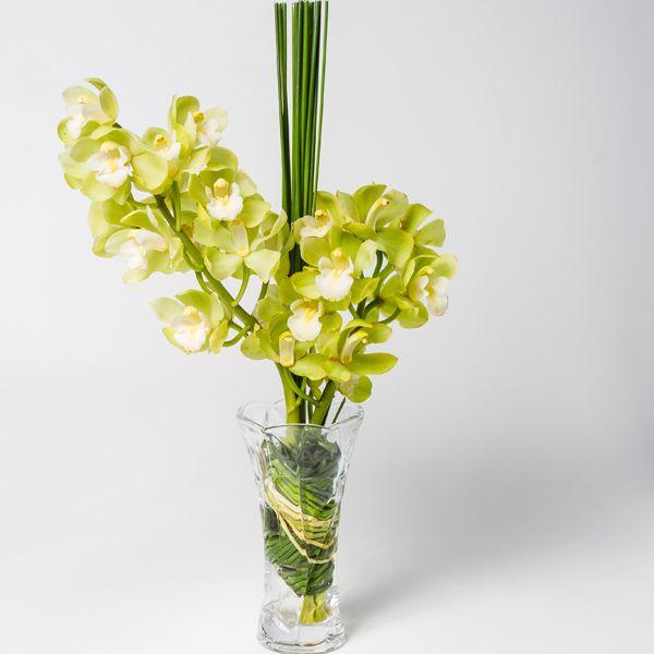 Orquidea Cymbidium Amarela No Vaso Orquideas Cymbidium Vasos E