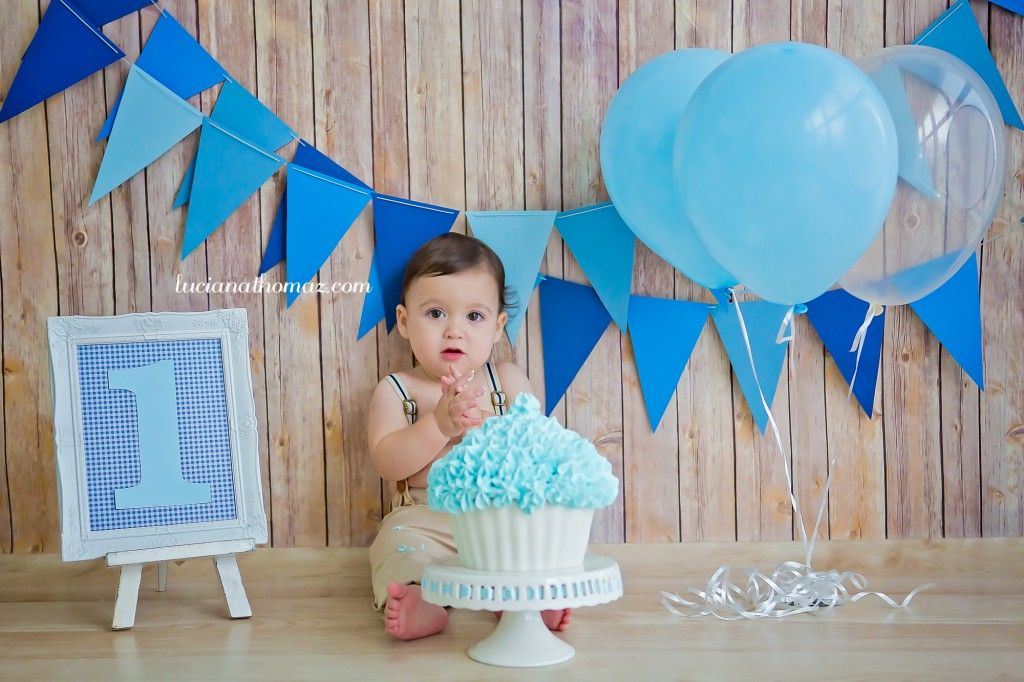 Smash the Cake baby boy Session One Years 1 year pics