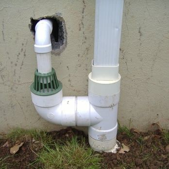 Discharge Sump Pump To Gutter System With Freeze Stop Green Connection Yelp Sump Pump Drainage Sump Pump Drain Gutter Drainage