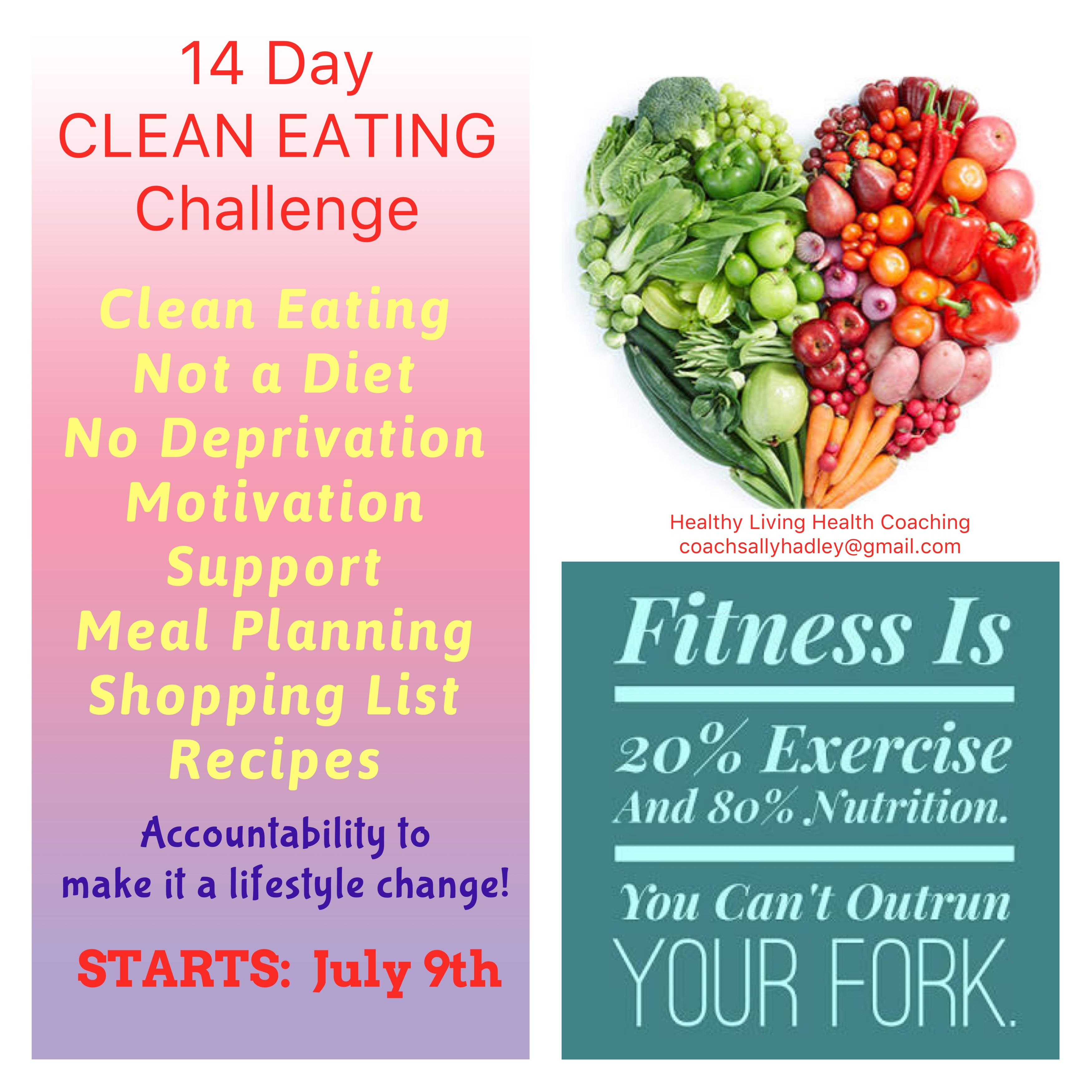 Sally Hadley Welcome To My Health Coach Site Clean Eating Challenge Healthy Health Food