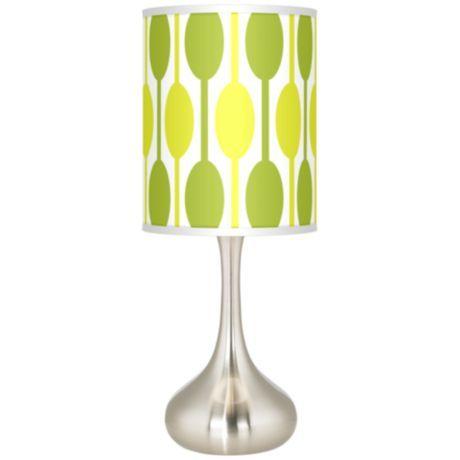 Jet Set Giclee Kiss Table Lamp