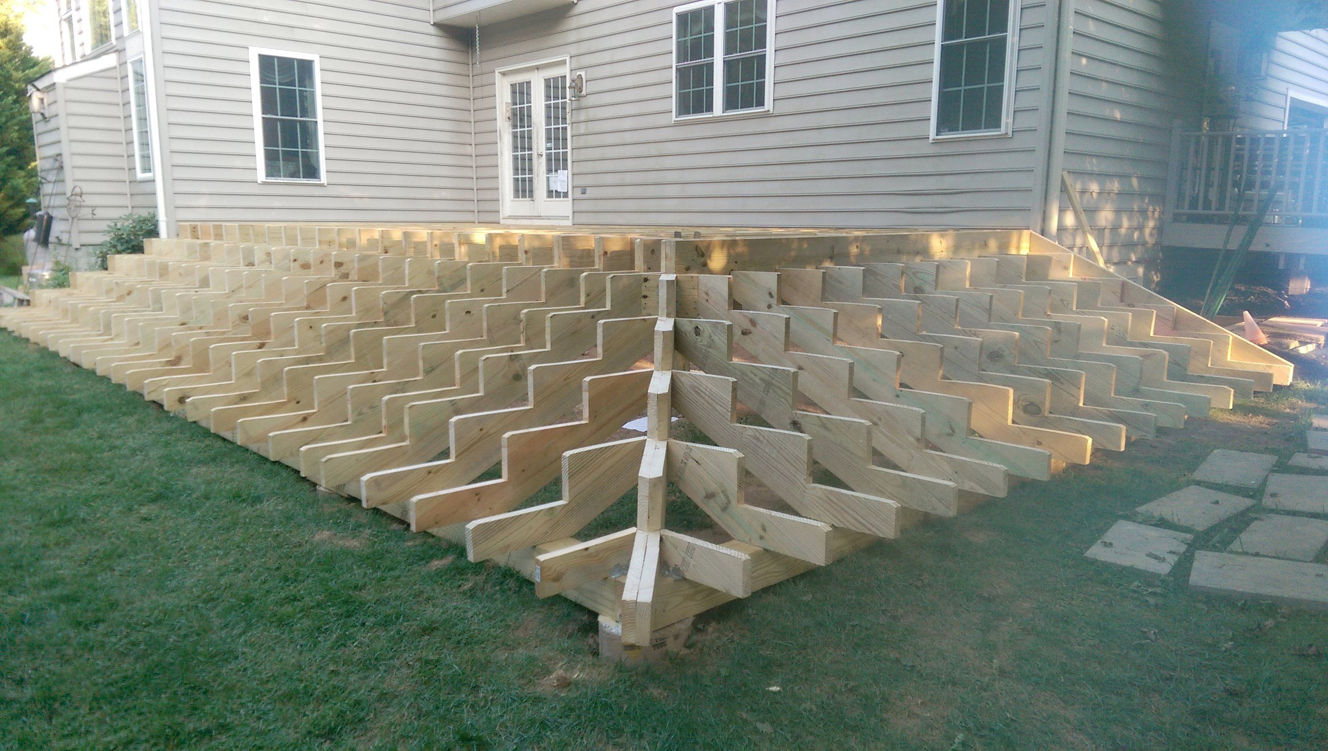 Gentil Deck With Stairs All Around Deck 29 X 14 With Stairs Around Two Sides