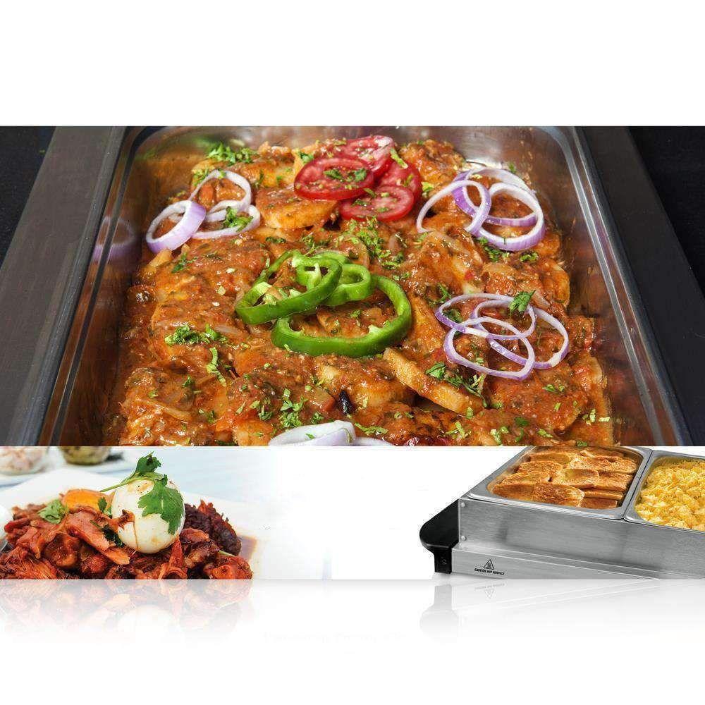 3 tray buffet server hot plate food warmer dealsdot