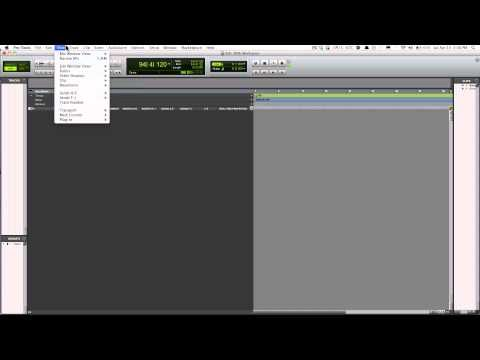 Pro Tools 10 - How to setup Workspace