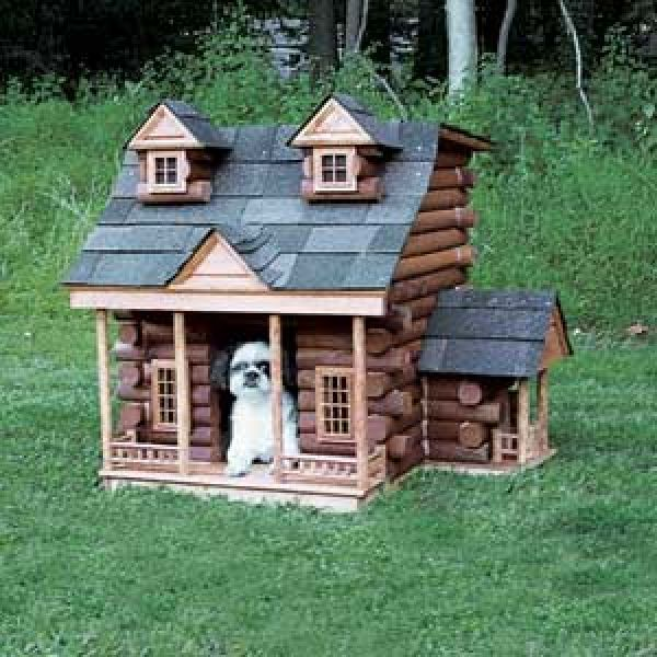 Log Cabin Dog House   Just Adorable. Want To Build A Dog House That Matches My  Own Home One Day.