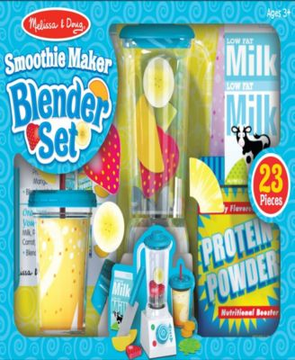 Melissa Doug Smoothie Maker Blender Set With Play Food 24