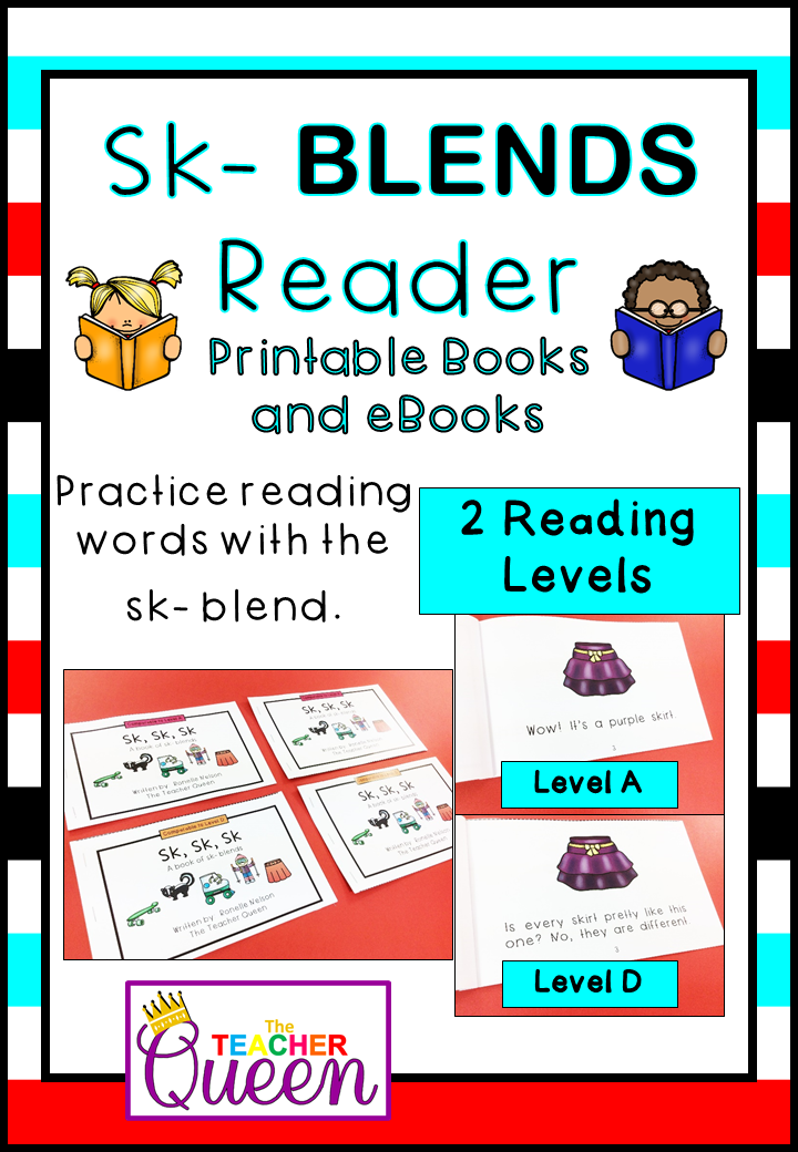 SK- Blend Readers Levels A and D (Printable Books and eBooks ...