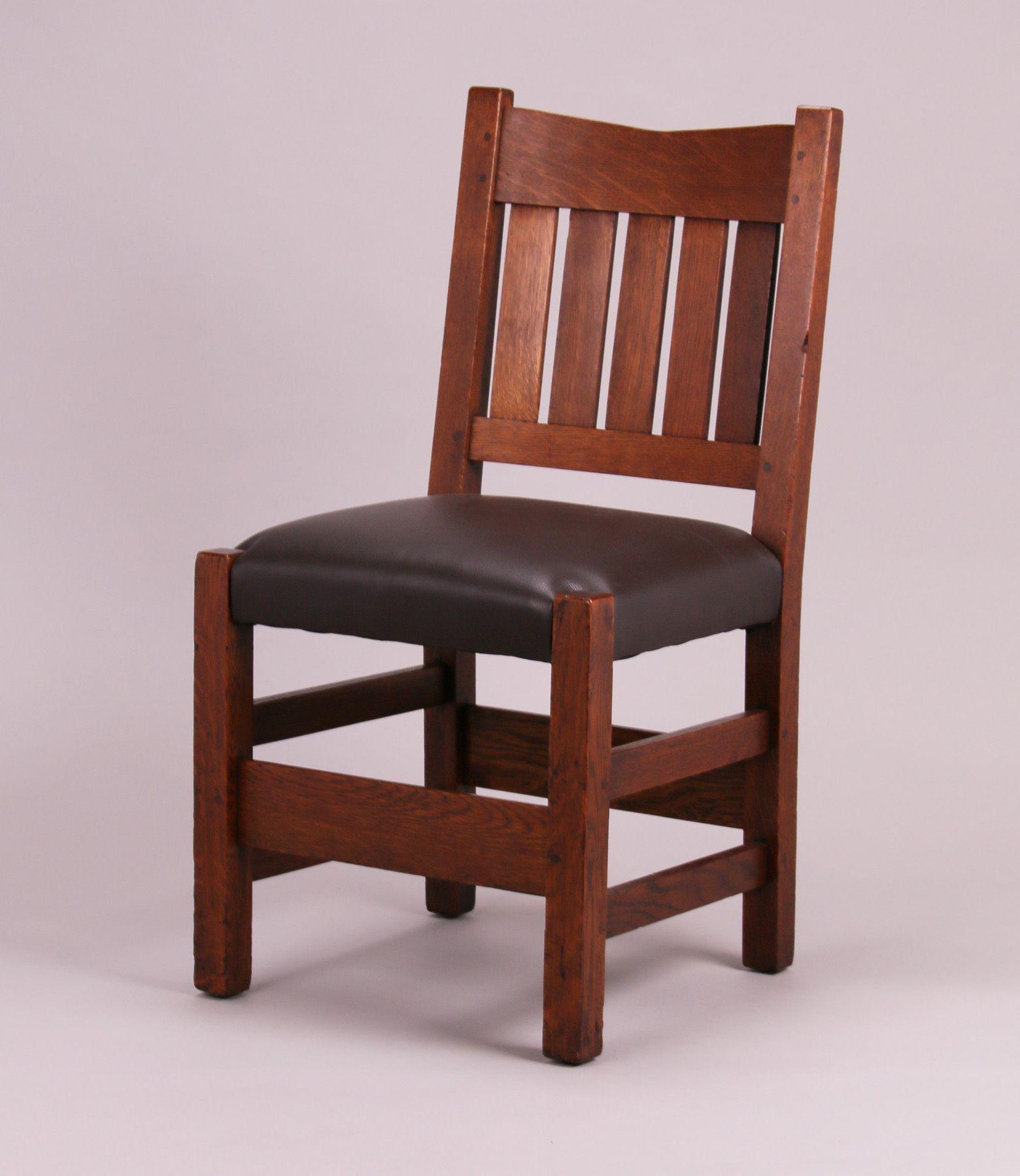 Gustav Stickley V Back Sidechair Gustav Stickley Stickley Side Chairs