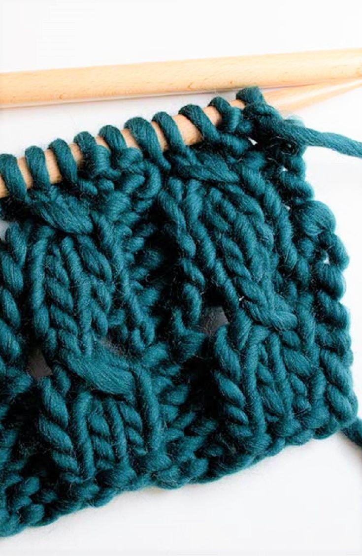 How to knit braided rib stitch | Knitting Edges | Pinterest | Stitch ...