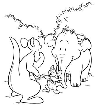 Lumpy The Heffalump Disney Coloring Pages Disney Painting Winnie The Pooh Coloring Pages