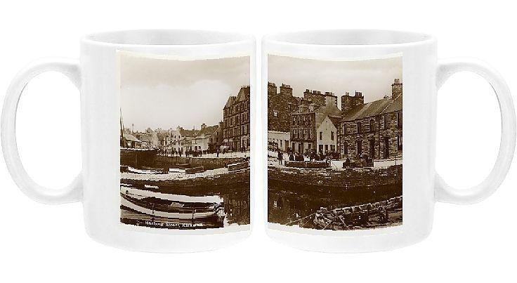 Photo Mug-Harbour Street - Kirkwall, Orkney Islands-Ceramic dishwasher safe mug made in the UK