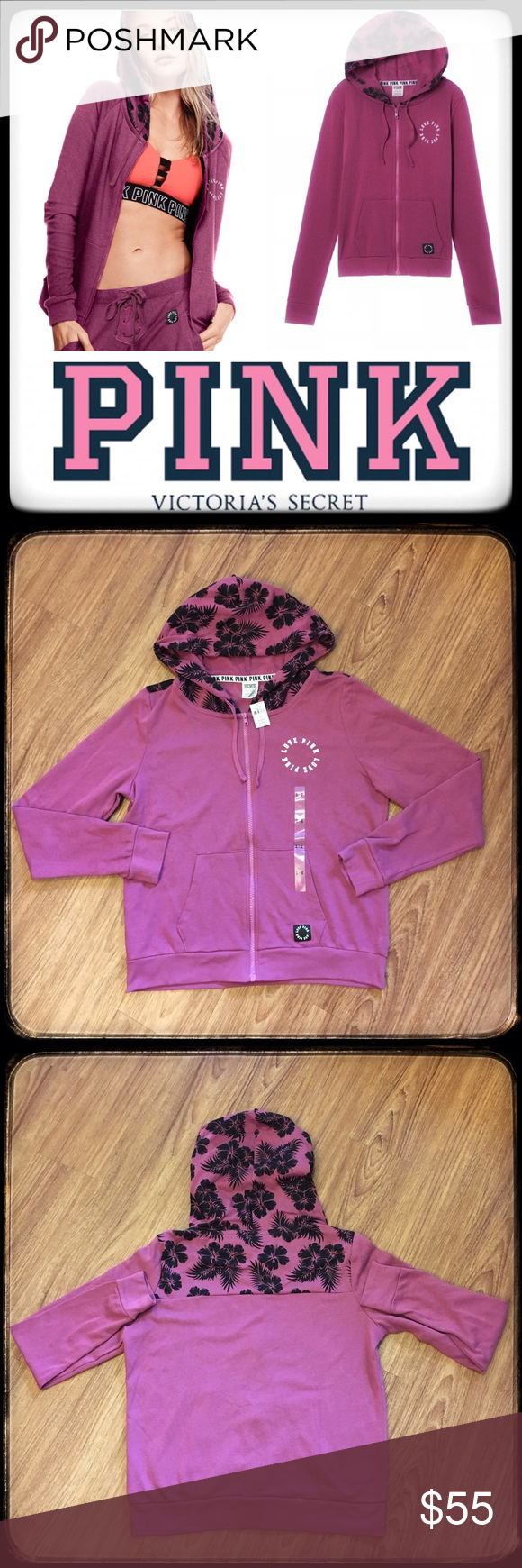 Pink Victoria S Secret Bayberry Hoodie Nwt Price Firm Unless Bundled 15 Off Of 3 Bundles Same Day Shipping Clothes Design Fashion Pink Zip Ups