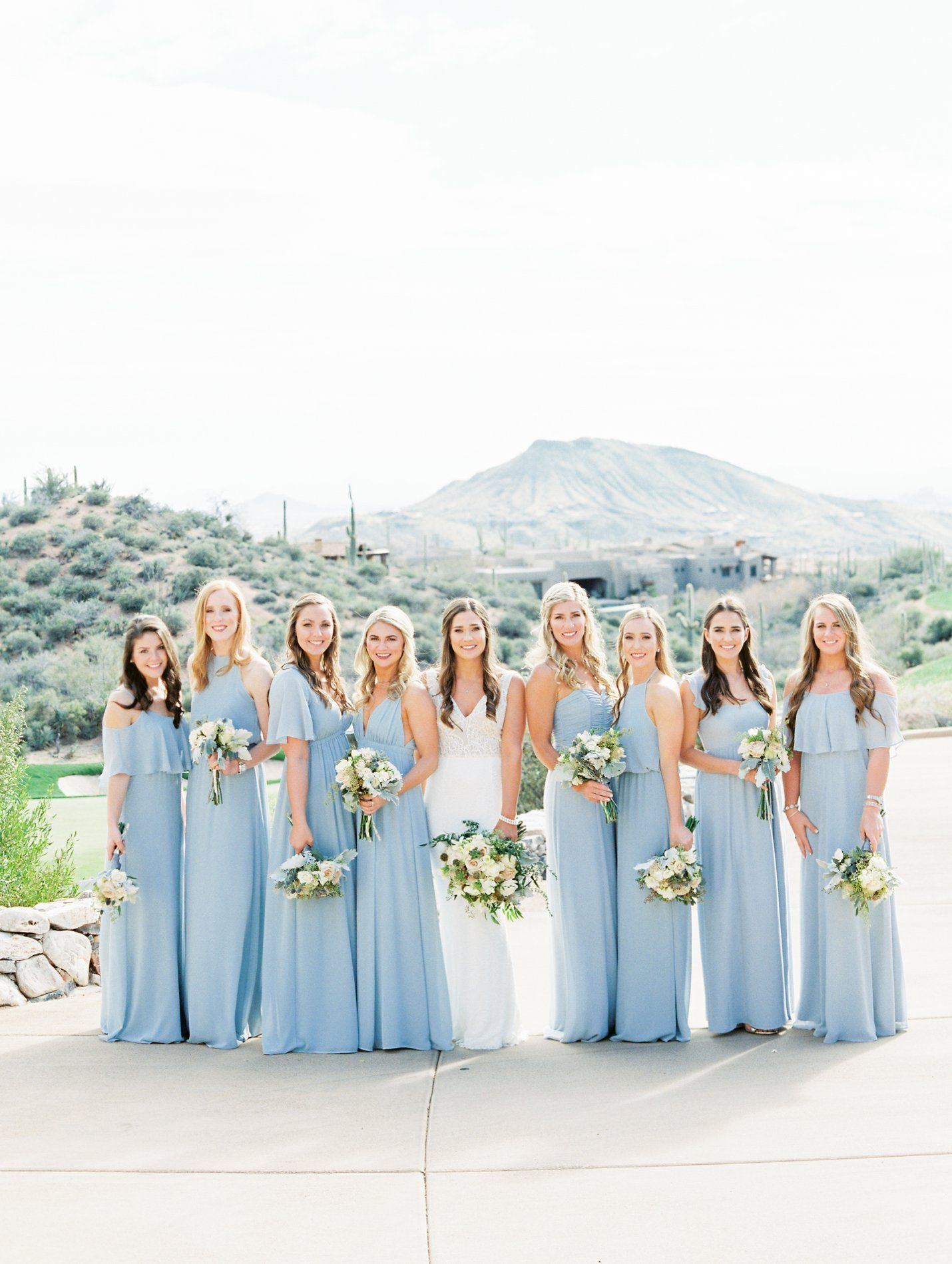 Desert Mountain Wedding Rachel Solomon Photography Baby Blue