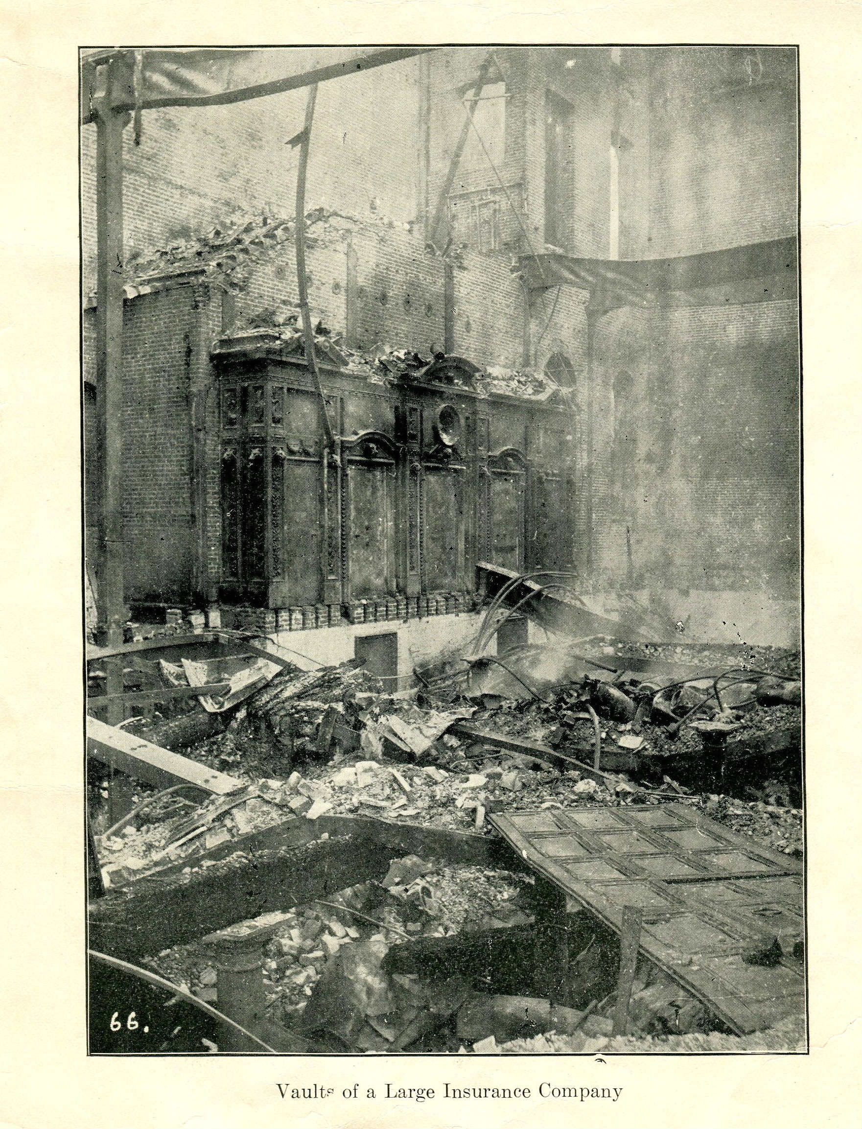 Vaults Of A Large Insurance Company San Francisco Earthquake Of 1906 With Images San Francisco Earthquake Major Earthquakes