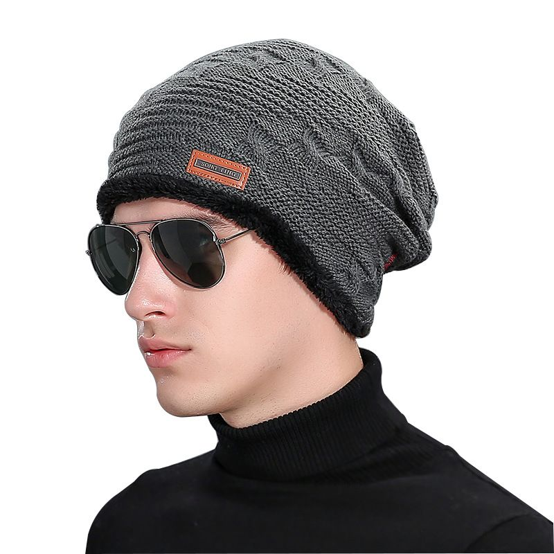 6ed51c3542 Click to Buy << New 2016 Knitted Gorro Touca Mens Winter Hat Beanie ...