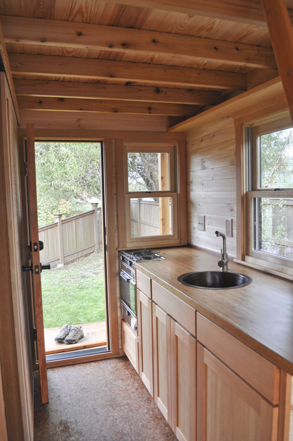 Inside a Tiny House kitchen, love the ceiling | Loft & Tiny Living ...
