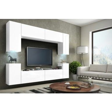 Modern Concept 1 Beautiful modern furniture in matte with a white gloss  front, and LED lights to brighten your home. This is available for a great  price ...