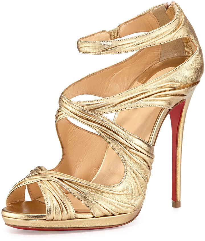 43398817fc61 Christian Louboutin Kashou Metallic Red Sole Sandal