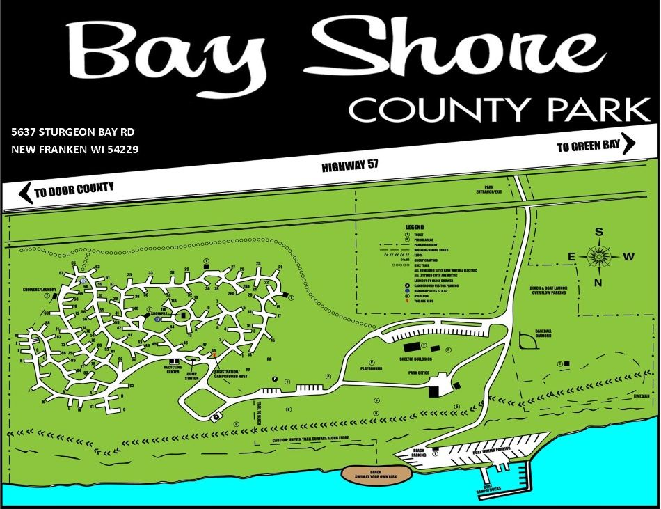 Bay Shore Campground County Park Bay County Sturgeon Bay