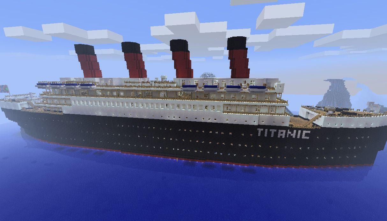 100 Minecraft Titanic Sinking Survival Sinking Lego