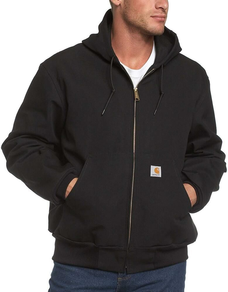 Carhartt mens thermal lined duck active jacket j131