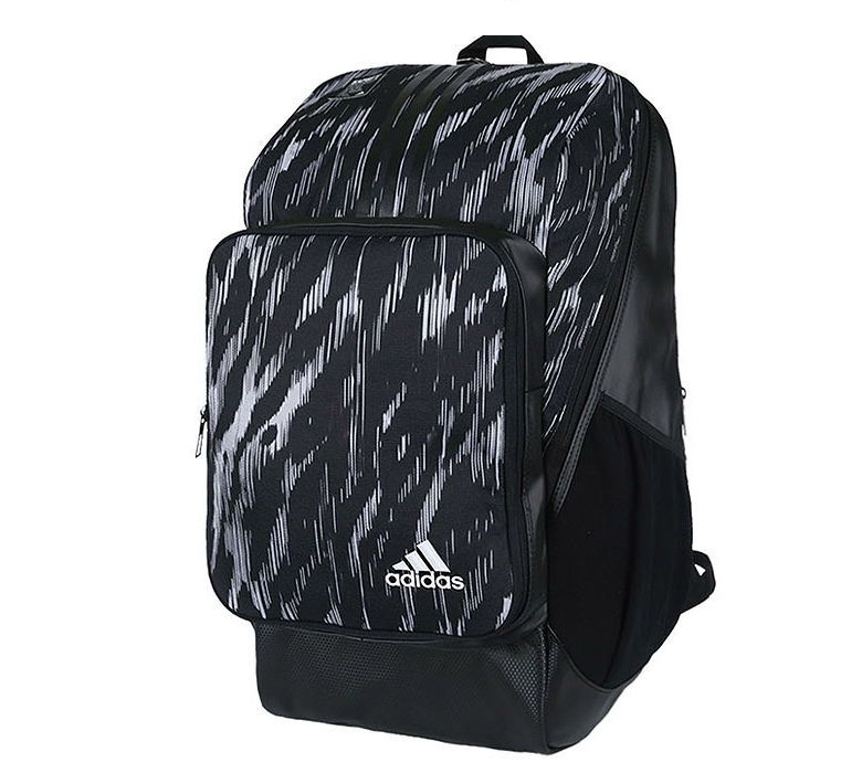 e10331463 Adidas 5T Graphic Backpack 30L Black White Sports School Casual Gym BQ7158 # adidas #Backpack