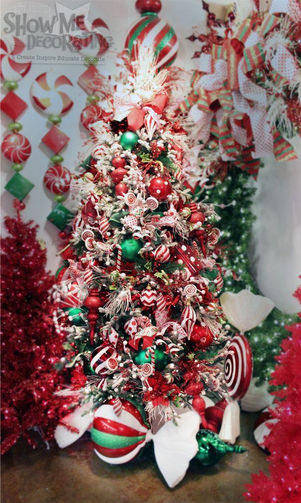 Christmas Decorations Theme peppermint twist christmas tree theme, christmas decorations