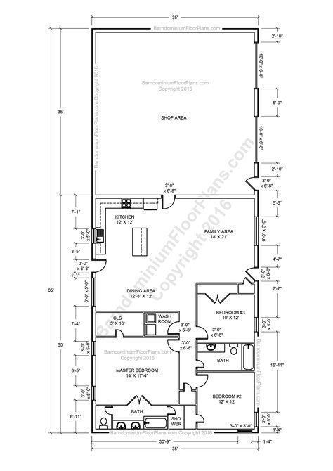 Best Metal Barndominium Floor Plans With Pictures #polebarnhouses