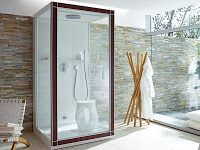 shower w/ window solution that allows option for privacy on outer window.