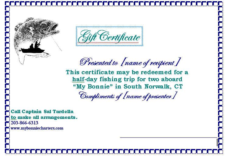 Image Result For Fishing Gift Certificate Template Gift