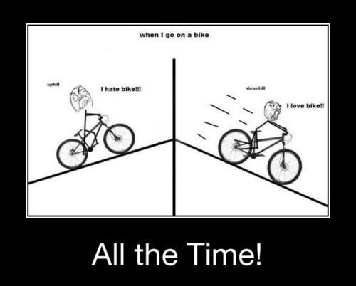 Tip of the Day for May   Cycling cartoon This should have one more frame.  Something about forgetting the first frame every time you start a bike ride. 84843e293