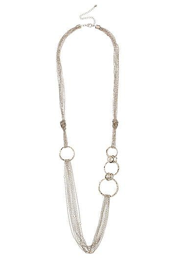 Maurices Mixed Metal Fine Chain Knot Necklace 6LGhu5Dq1
