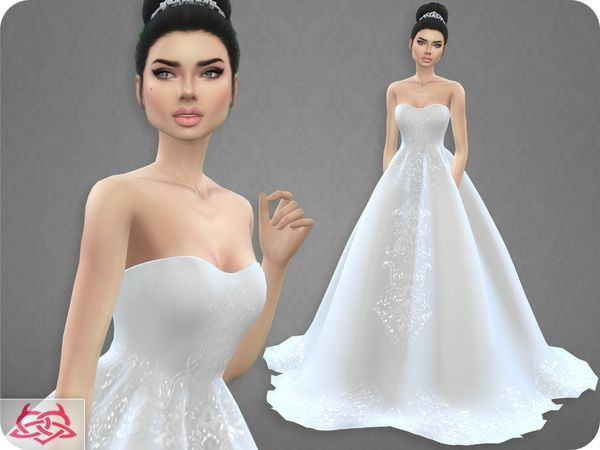 wedding dress 7colores urbanos at tsr • sims 4 updates | dresses