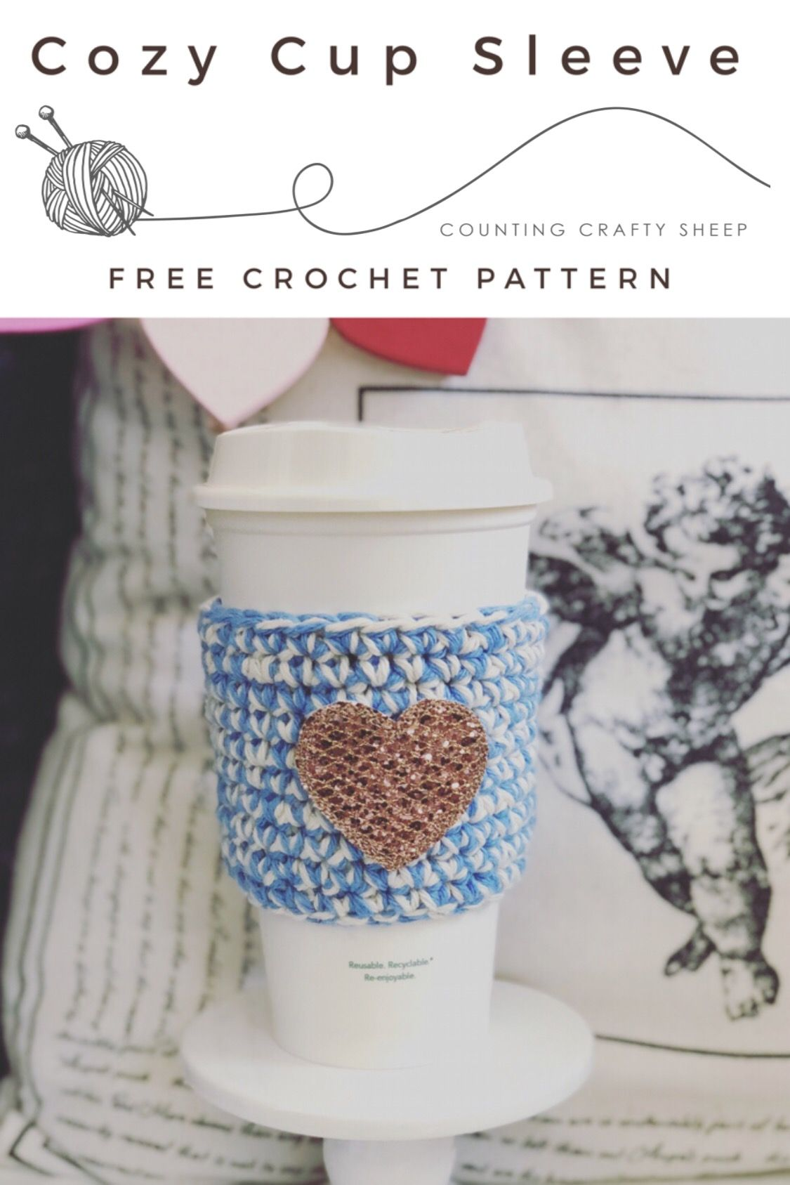 Best Crochet Cup Cozy a.k.a. Coffee Sleeve - Free Pattern | Product ...