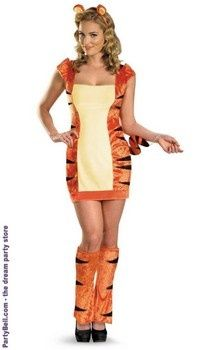 Sexy Tiger Costume Haha The Dress Must Follow The Body Of A