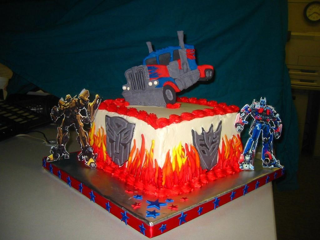 Ideas Transformers Birthday Cake Party