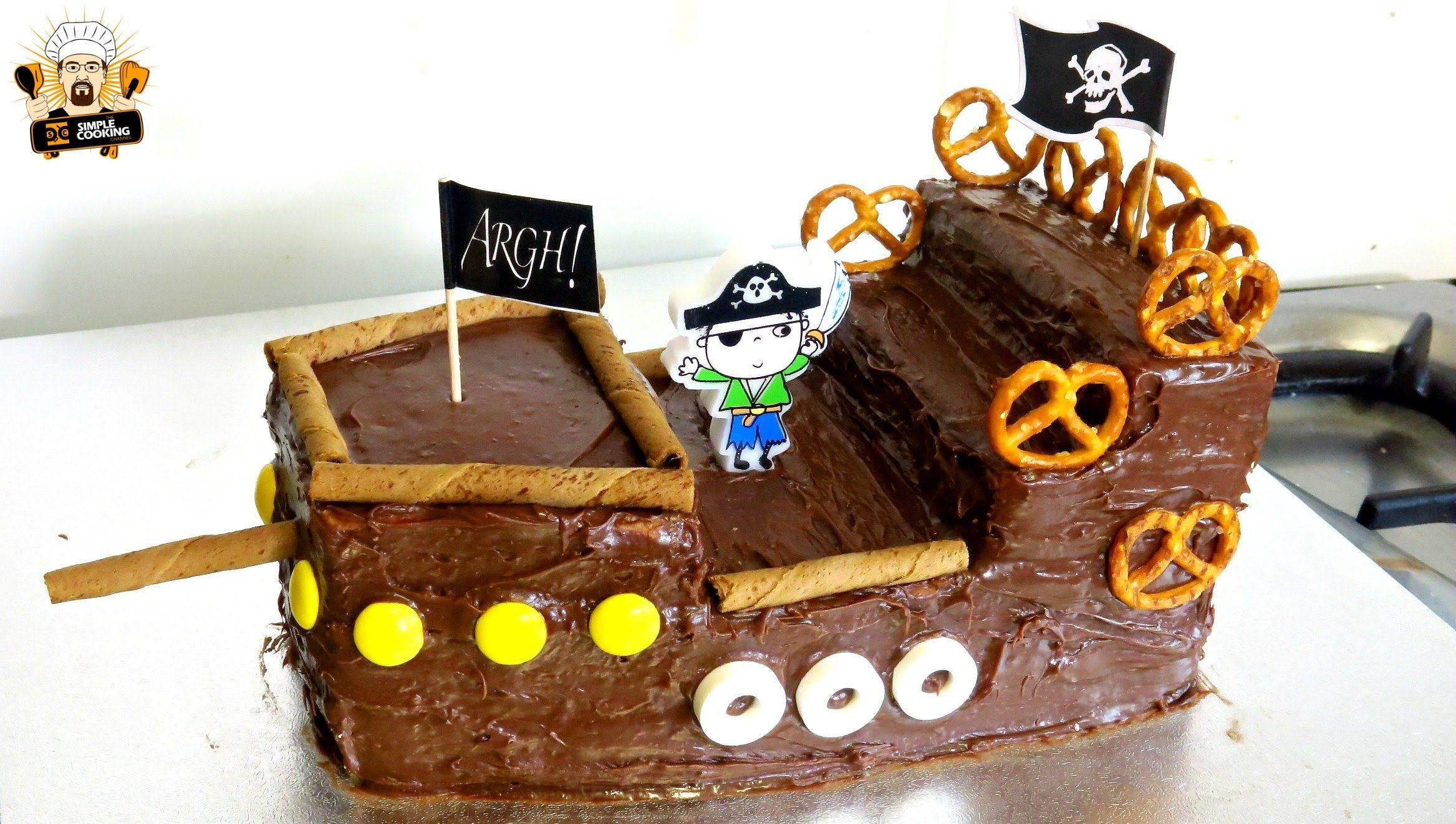 Easy pirate cake recipes pirate ship cakes pirate