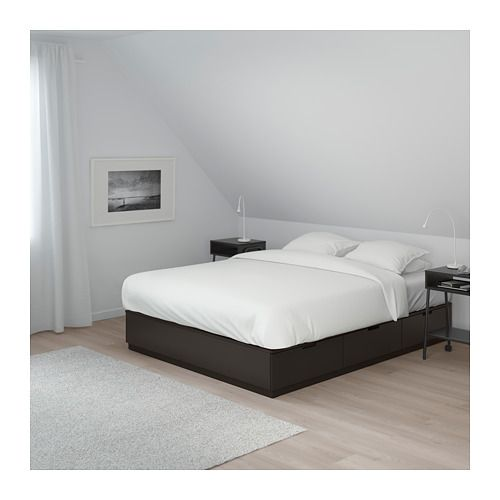 Nordli Bed Frame With Storage Anthracite King Ikea Bed Frame With Storage Bed Frame Bed Storage