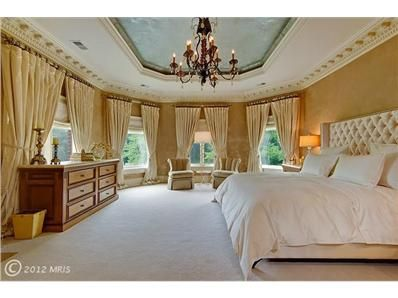 A bedroom fit for a queen in Great Falls, Virginia.   www.TheSpearRealtyGroup.com