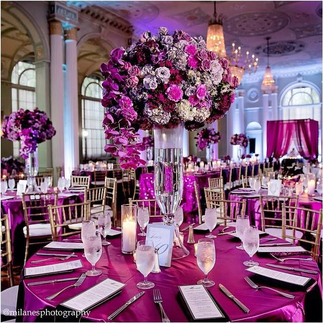 Black And Purple Wedding Ideas: Inspiring Photo Of The Day: Purple And Magenta Tablescape