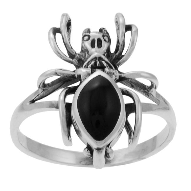 <li><a href='http://www.overstock.com/downloads/pdf/2010_RingSizing.pdf'><span class=links>Click here for Ring Sizing Chart</span></a><li>Poison ring with a tarantula design<li>Sterling silver jewelry