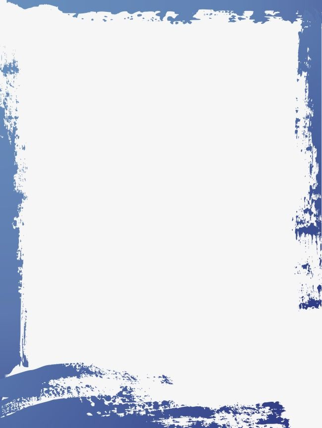 Simple Blue Watercolor Frame Text Background Watercolor Border