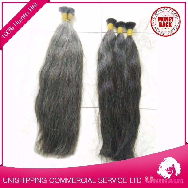 Cheap Virgin Natural Grey Straight Hair 50 Inch 100 Percent Human