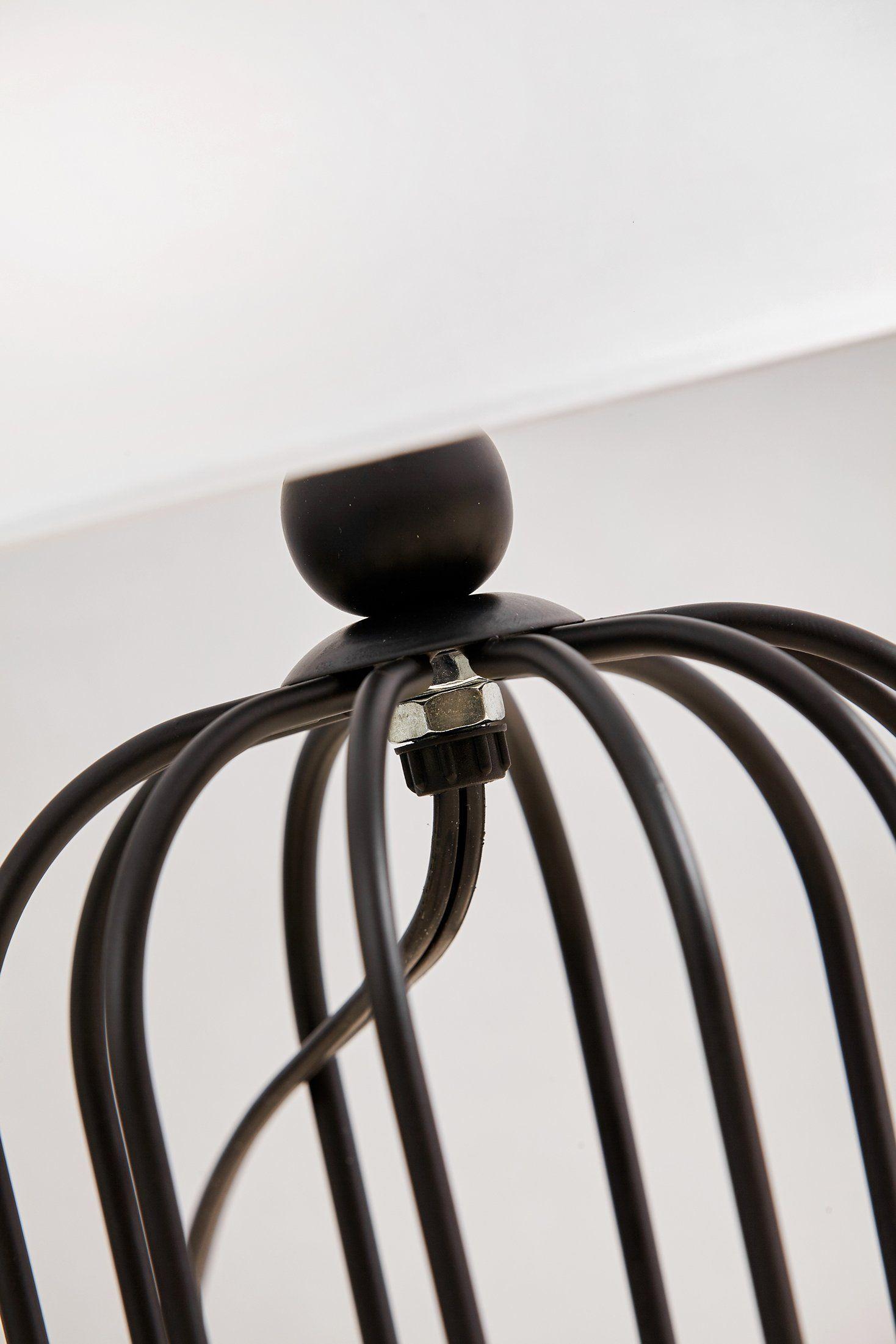 Black Metal Bedside Tables: Bedside Lamp Morden Minimalist Black Metal Bird Cage With