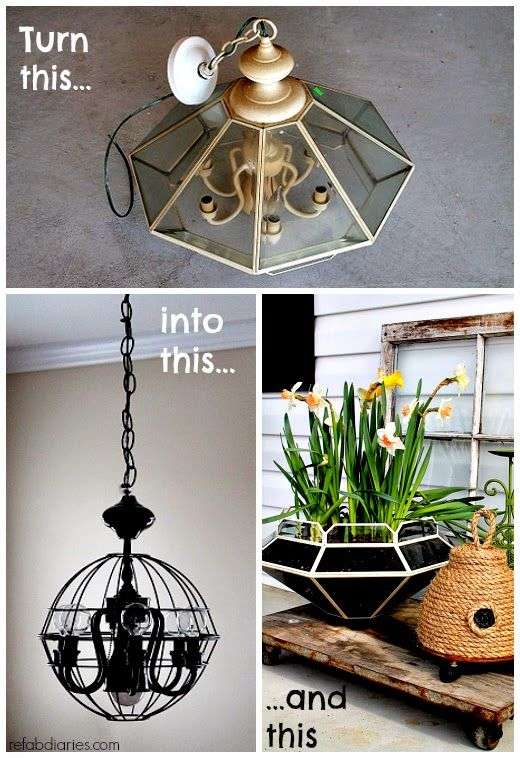 Refab Diaries Upcycle One Old Light Two Refabs Old Lights Upcycle Decor Repurposed Lamp